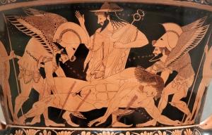 gods Mercury Hermes_e_Sarpedon